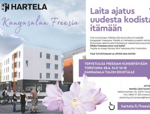 Tervetuloa Freesian kohdepäivään to 28.6. klo 16-18 Kangasala-talon edustalle